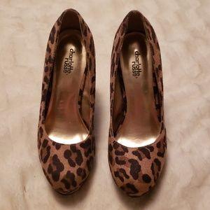Charlotte Russe leopard suede heels